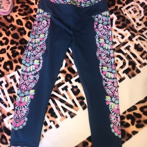 Lilly Pulitzer Luxletic Glow and Flow Leggings, XL